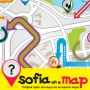Flayer Sofia on a map